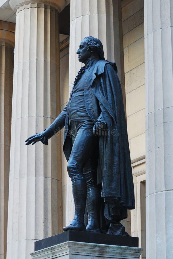 Statue de Washington, Wall Street, New York City photos stock