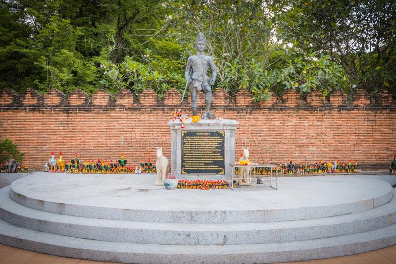 Statue de Wat Phra That Lampang Luang Le temple antique en Tha?lande photos stock