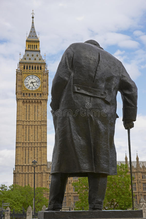 Statue de Winston Churchill photographie stock