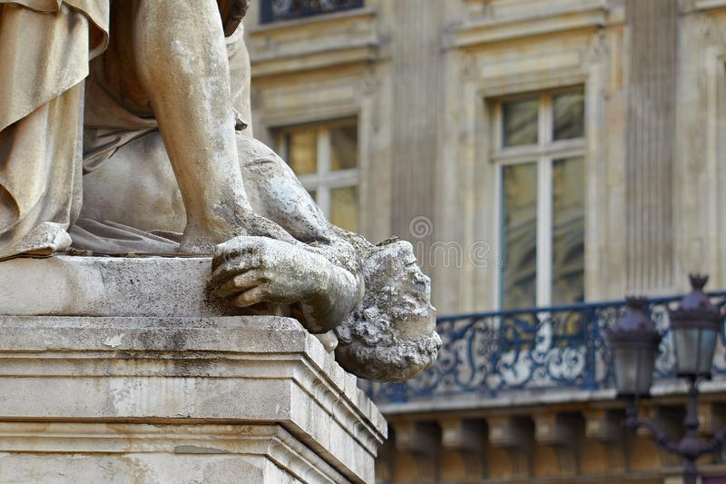 Statue. Death Paris France famous royalty free stock images