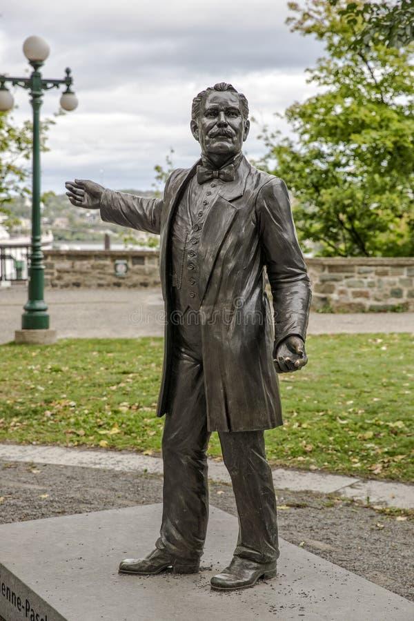 Statue debout de Cartier à Québec Canada image libre de droits
