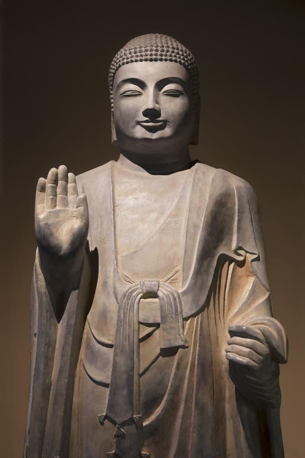 Statue debout de Sakyamuni, province de Shaanxi, Xian, Chine photographie stock libre de droits