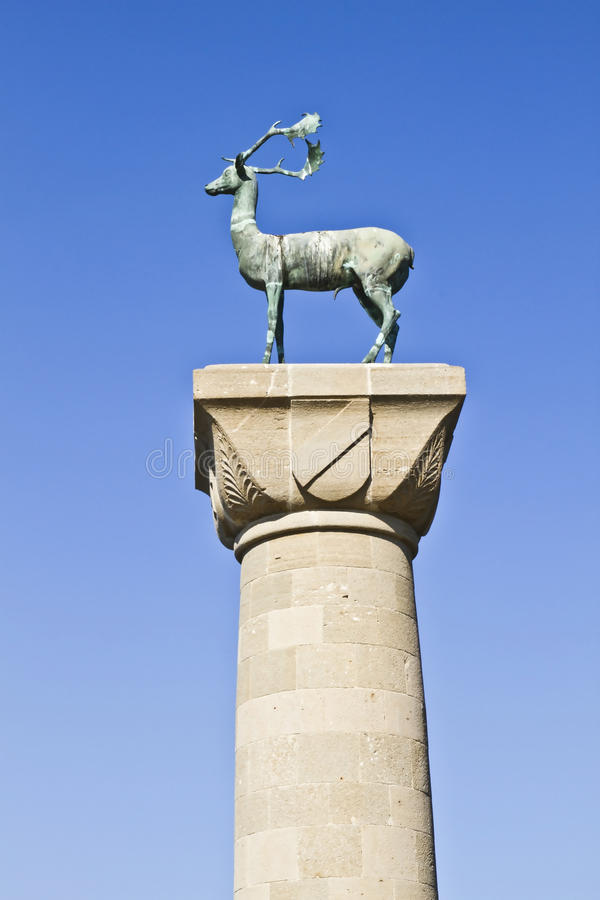 Statue of deer stock photography