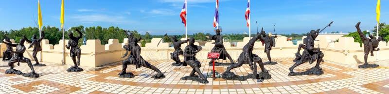 Statue dei monaci di Shaolin di cinese che descrivono immagini stock libere da diritti