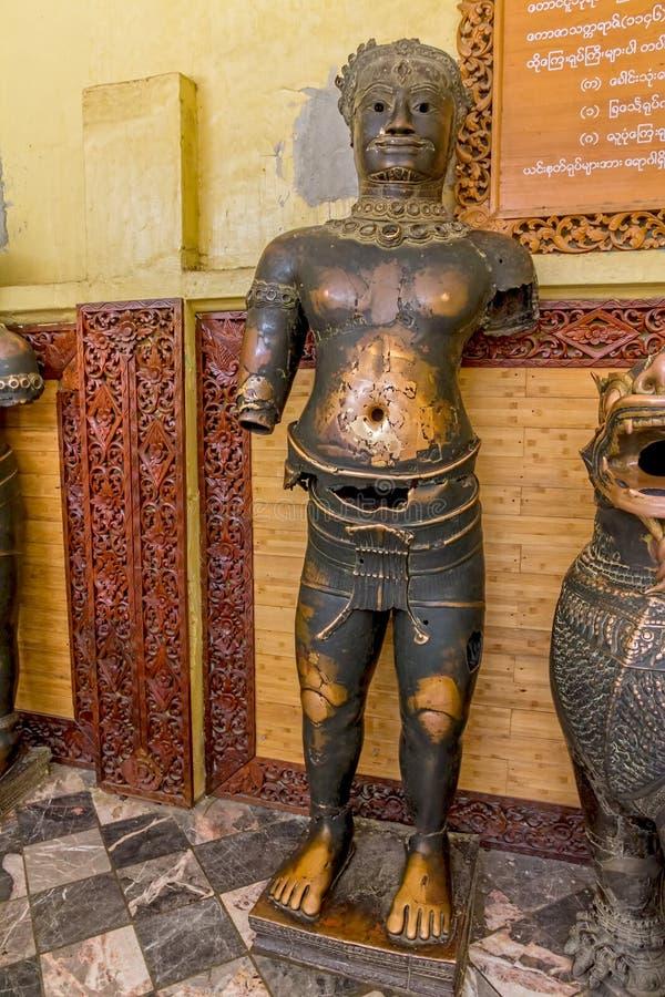 Statue del bronzo di Mahamuni immagine stock libera da diritti