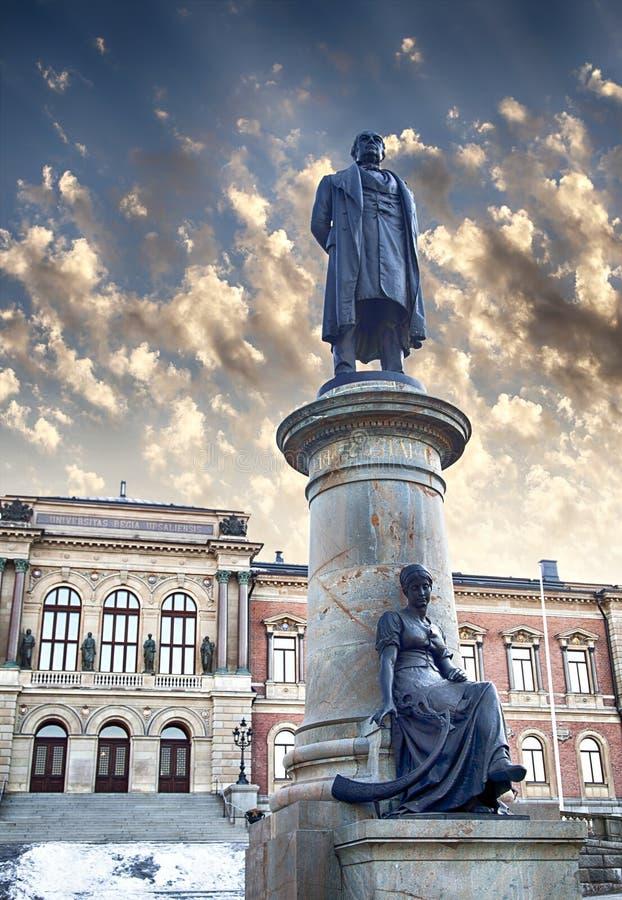Statue dell'università di Upsala immagine stock