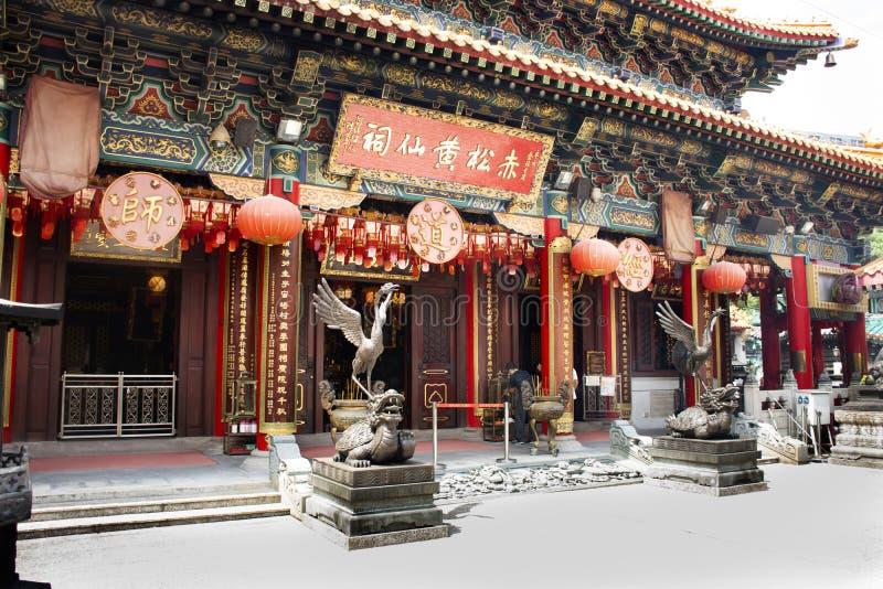 Statue della tartaruga del drago e dell'uccello di Vermilion quattro animali celesti del guardiano cinese di mitologia fotografia stock