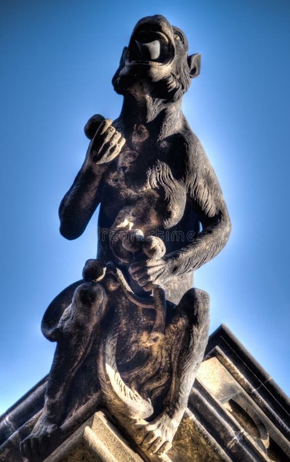 Statue demon royalty free stock photo