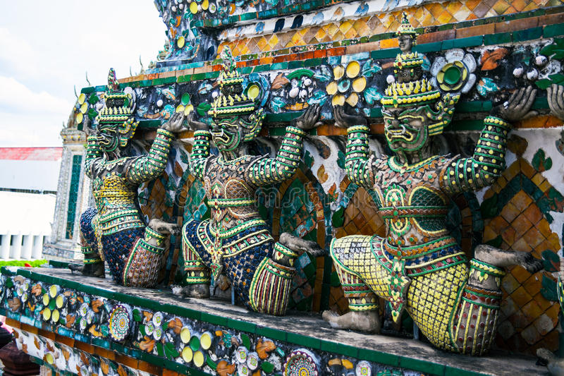 Download Statue Of Demon (Giant, Titan) At Wat Arun, Landmark And No. 1 Tourist Attractions In Thailand. Stock Photo - Image: 32430306