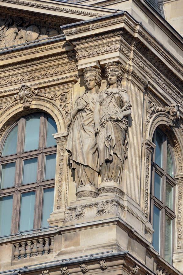 Statue an den Jalousien Museum, Paris, Frankreich lizenzfreies stockfoto