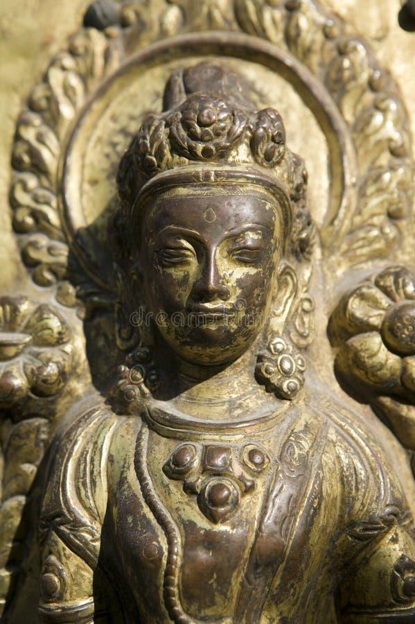 Statue der hinduistischen Göttin stockbild