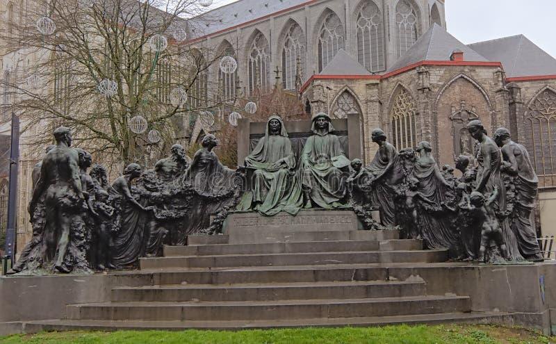 Statue der Van Eyck-Brüder, Gent, Belgien stockfoto