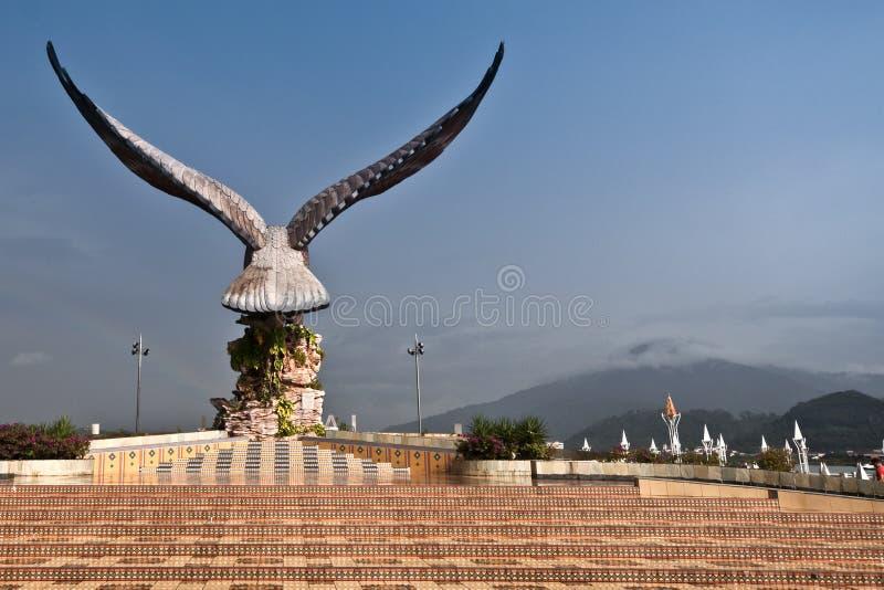 Statue des Adlers lizenzfreies stockfoto