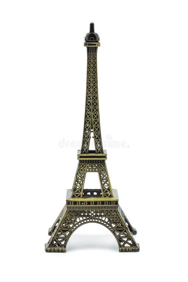 Statue des Eiffelturms lokalisiert lizenzfreie stockfotos