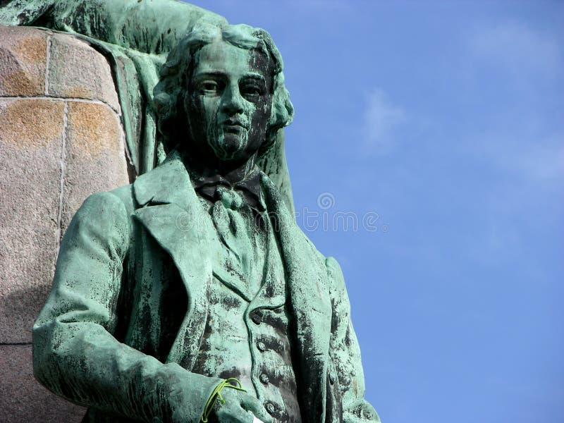 Statue des Frances Preseren dans la place centrale de Ljubljana à Ljubljana, Slovénie photo libre de droits
