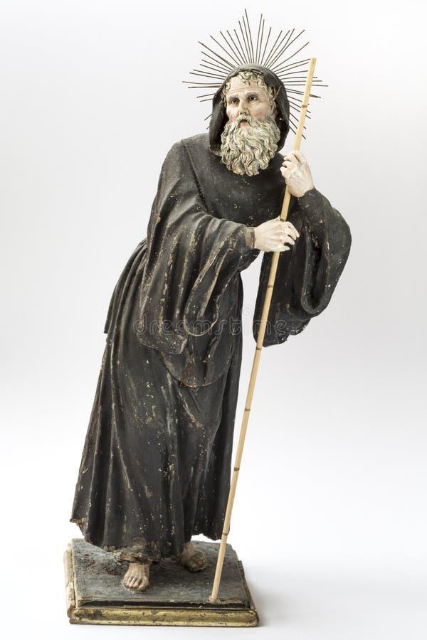 Statue des Heiligen gemacht vom Papiermache und von der Terrakotta lizenzfreie stockbilder