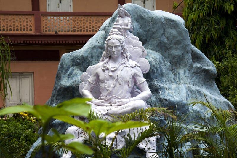 Statue des Hindus Lord Shiva, Rishikesh Indien lizenzfreie stockfotos