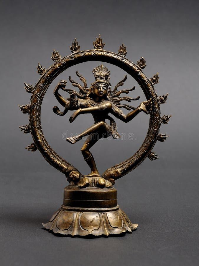 Statue des indischen Gotttanzens Shiva Nataraja lizenzfreies stockfoto