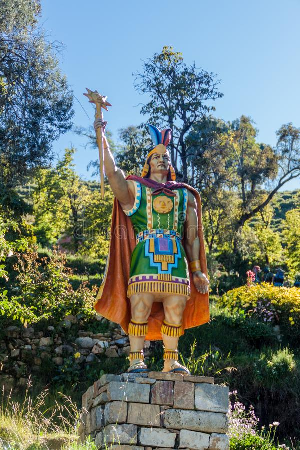 Statue des Inkas lizenzfreies stockbild