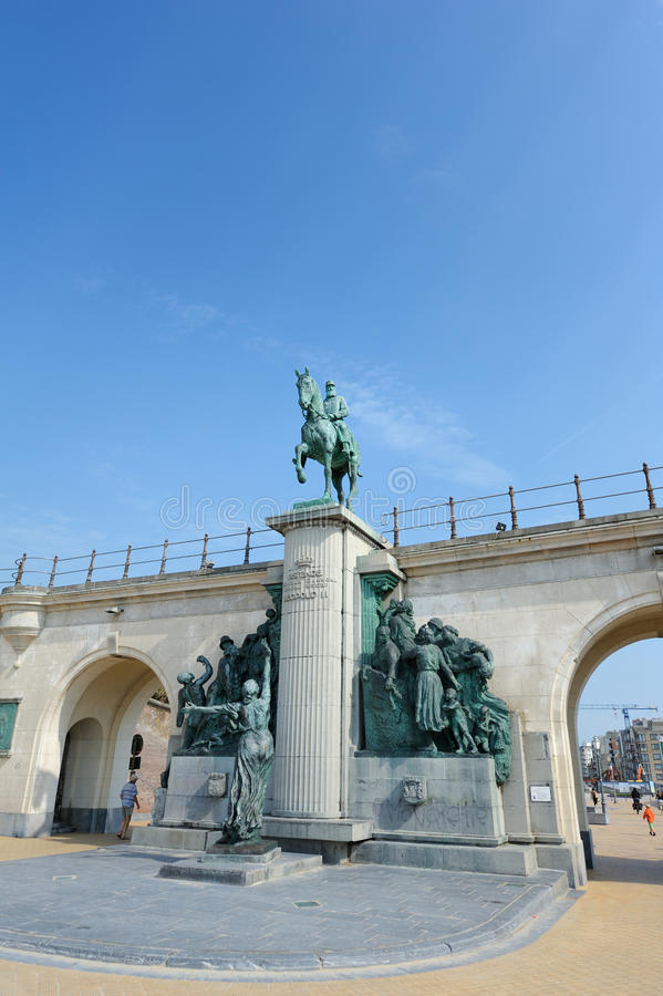 Statue des Königs Leopold II von Belgien. lizenzfreie stockfotos
