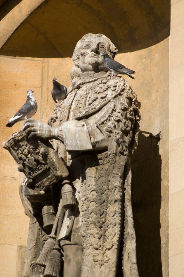 Statue des Lords Clarendon, Universität von Oxford stockfotos