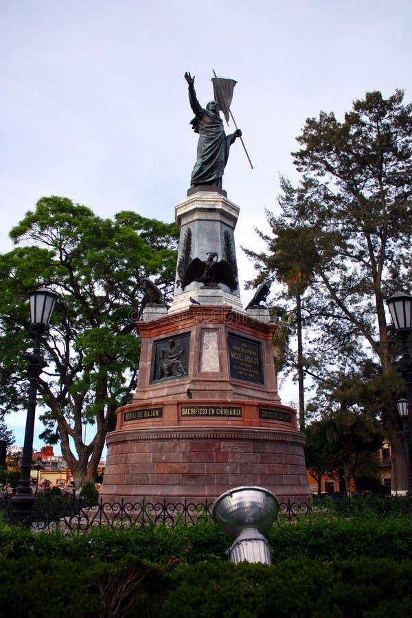 Statue des mexikanischen Held MiguelHidalgo stockfotografie