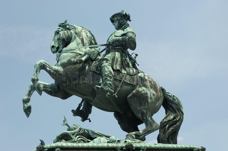 Statue des Prinzen Eugene stockfotos