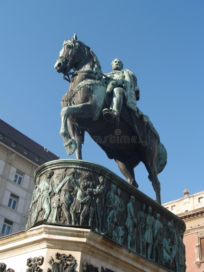 Statue des Prinzen Mihailo stockbild