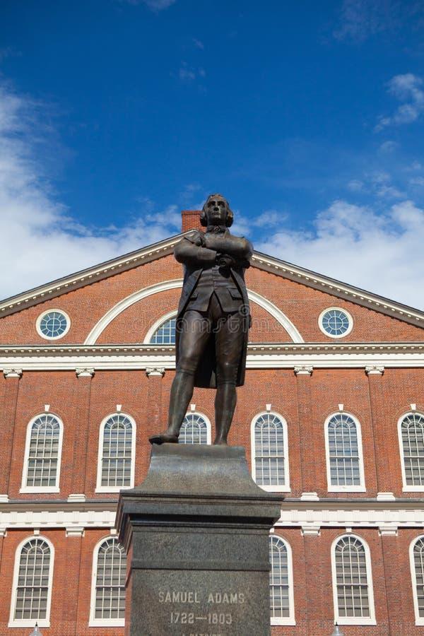 Statue des revolutionären Patrioten, Samuel Adams stockfotos
