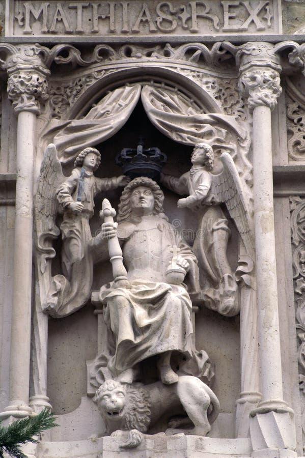 Statue des ungarischen Königs Mathias lizenzfreie stockfotos
