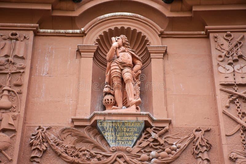 Statue di Georg Friedrich Bernhard Riemann alla vecchia città di Heidelberg, Germania fotografia stock