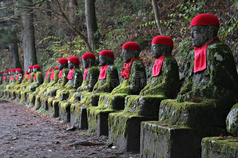 Statue di Jizo a Nikko immagine stock libera da diritti