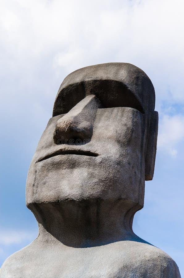 Statue di Moai fotografie stock libere da diritti