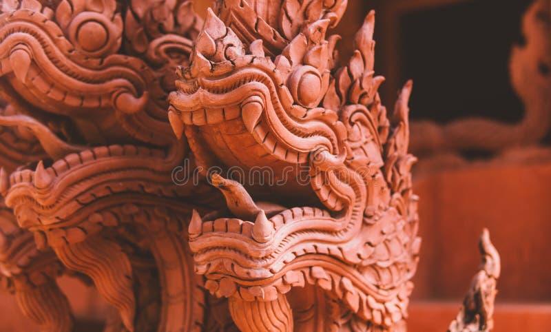 Statue di NTraditional dei draghi in Tailandia Drago nella cultura della Tailandia fotografia stock