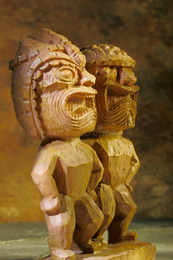 Statue di Tiki fotografie stock libere da diritti