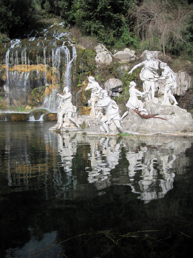 Statue of Diana in Caserta stock photography