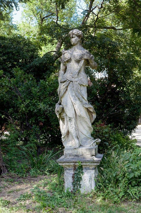 Statue Diana, Giardini, Castello, Venice, Italien, Venezia, Italien royaltyfria bilder