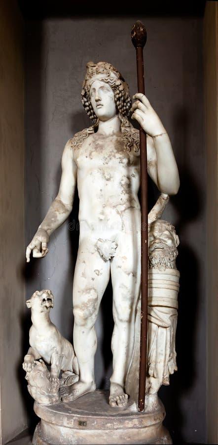 Statue Of Dionysus Stock Photos