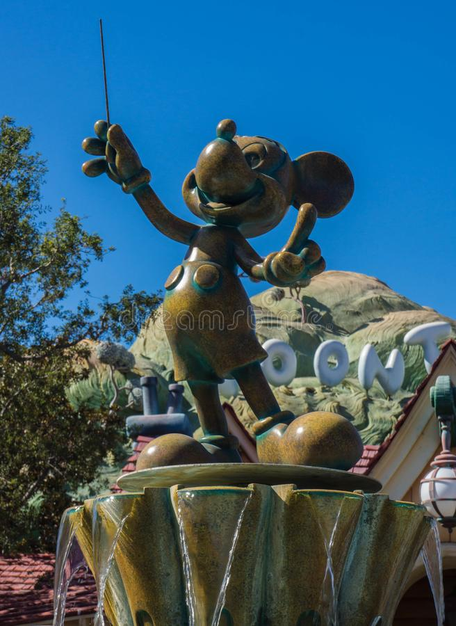 Statue Disneylands Mickey Mouse Conductor lizenzfreies stockfoto