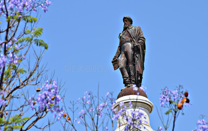 Statue of Dom Pedro IV stock images