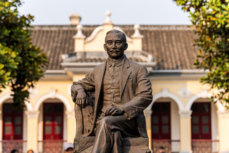 Statue of Dr Sun Yat-sen at the presidential palace in Nanjing, China.  stock image