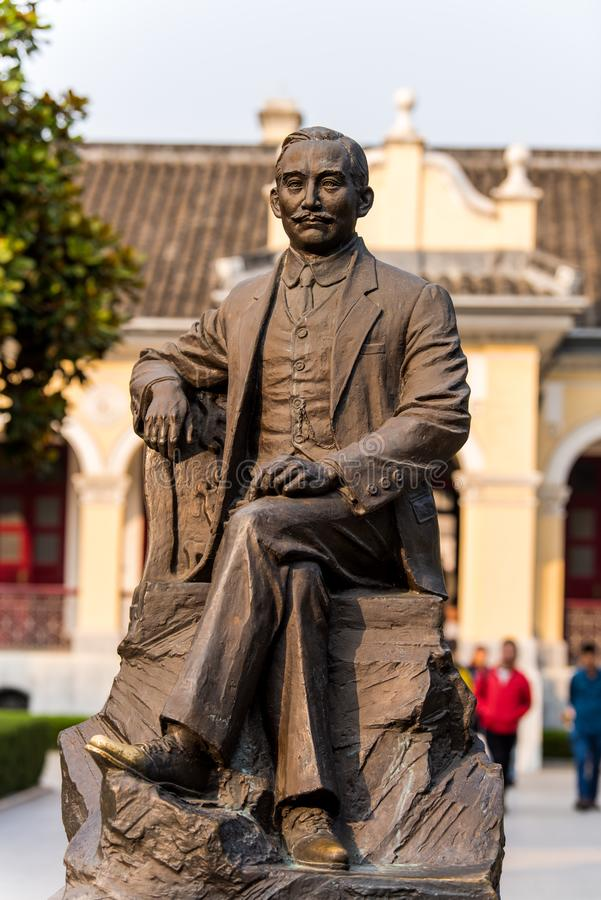 Statue of Dr Sun Yat-sen at the presidential palace in Nanjing, China.  royalty free stock photography
