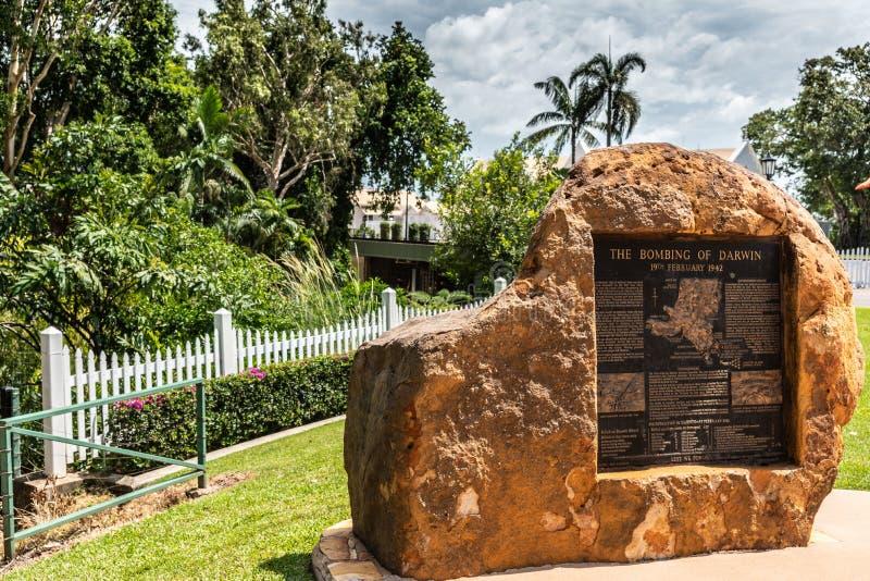 Statue du bombardement de Darwin, Australie photographie stock libre de droits