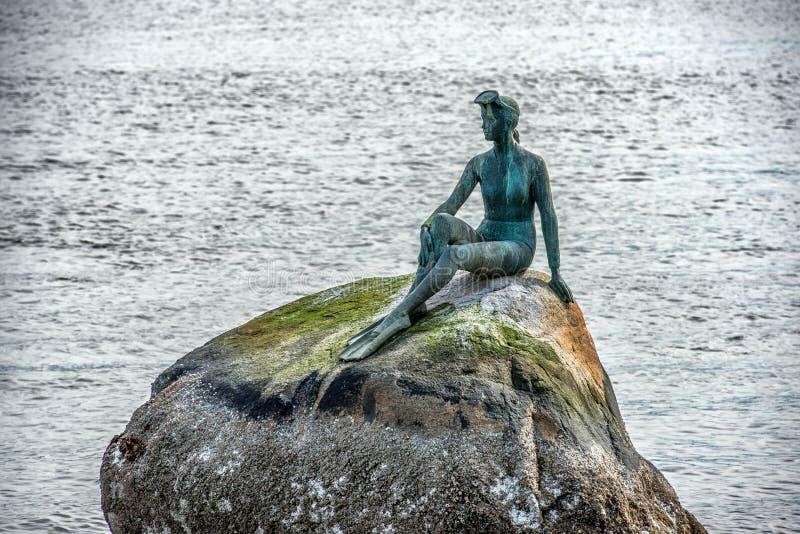 statue du Canada de Vancouver de parc de Stanley de plongeur images libres de droits