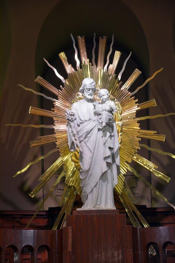 Statue du Christ de saint Joseph Oratory de crypte royale de bâti images stock