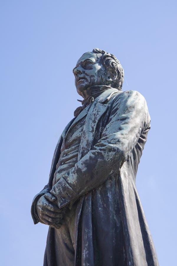 Statue du danois Hans Christian Oersted - H C Ørsted Il a découvert que l'électricité et le magnétisme sont images libres de droits