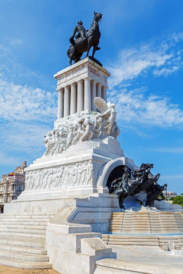 Statue du Général Maximo Gomez, La Havane, Cuba photo libre de droits