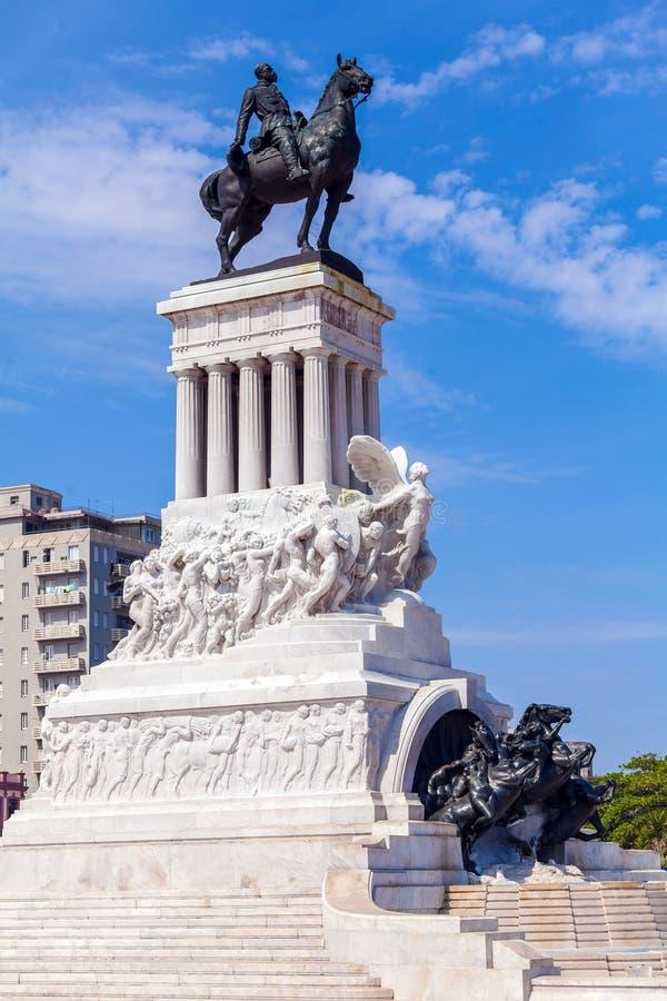 Statue du Général Maximo Gomez, La Havane, Cuba photographie stock libre de droits
