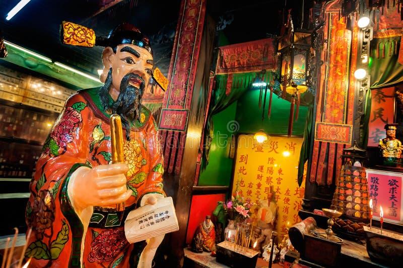 Statue du gardien de livre chez Tin Hau Temple, Yau Ma Tei, Hong Kong images libres de droits