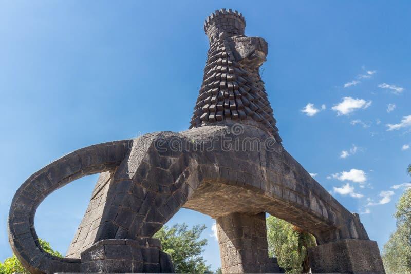 Statue du lion de Judah photo stock